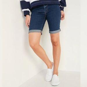 Old Navy Bermuda Jean Shorts SZ 8